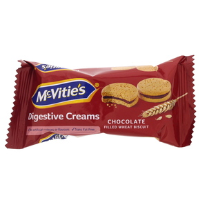 McVities Digestive Creams Chocolate Filled Wheat Biscuit 40g