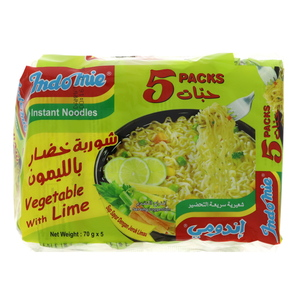 Indomie Instant Noodles Vegetable With Lime 70g x 5pcs