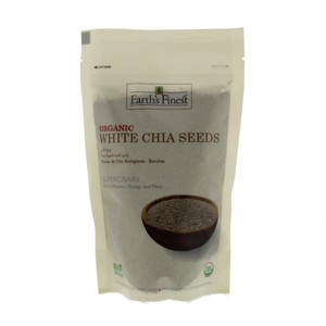 Earth's Finest Organic White Chia Seeds 300g