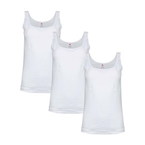 Eten Women's Inner Vest White Pack of 3 LVW18