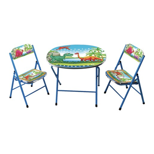 Home Style Study Table + 2 Chair KT247 Blue