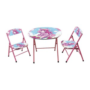 Home Style Study Table + 2 Chair KT247 Pink