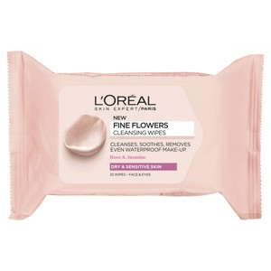 L'Oreal Paris Fine Flowers Cleansing Wipes Dry & Sensitive Skin 25pcs