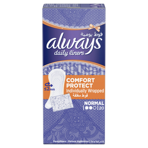 Always Daily Liners Comfort Protect Individually Wrapped 20pcs