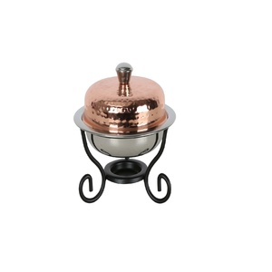 Chefline Copper Mini Round Chefing Dish 400ml 84450A