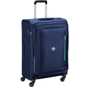 Delsey Oural 4 Wheel Soft Trolley 81cm Blue