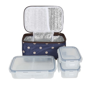 Picnic Food Container 3pcs With Insulated Bag S4-175Q 1Ltr