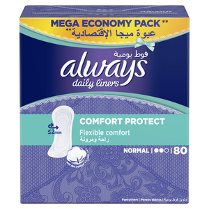 Always Daily Liners Comfort Protect Normal 80pcs