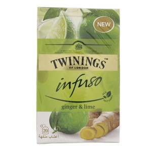 Twinings Infuso Ginger & Lime 20 Teabags