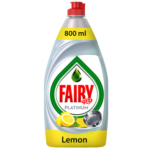 Fairy  Dishwashing Liquid Platinum Lemon 800ml