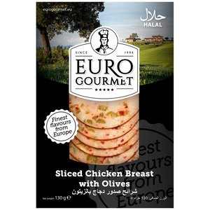 Euro Gourmet Sliced Chicken Breast With Olives 130g