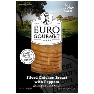 Euro Gourmet Sliced Chicken Breast With Pepper 130g