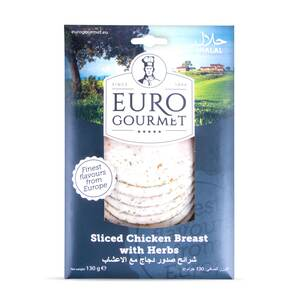 Euro Gourmet Sliced Chicken Breast With Herbs 130g