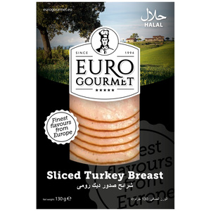 Euro Gourmet Sliced Turkey Breast 130g