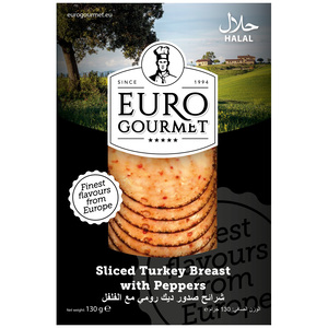 Euro Gourmet Sliced Turkey Breast With Pepper 130g