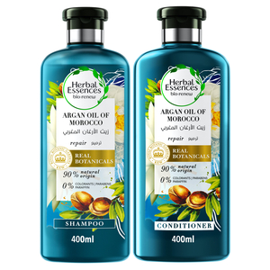Herbal Essences Bio:Renew Natural Shampoo + Conditioner with Argan Oil of Morocco for Hair Repair 400ml + 400ml