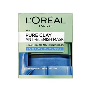 L'Oreal Paris Pure Clay Algae  Anti Blemish with Marine Algae Mask 50ml