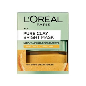 L'Oreal Paris Pure Clay Bright Mask with Yuzu Lemon 50ml