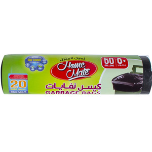 Home Mate Garbage Bags 50Gallons 75cm x 105cm 20pcs