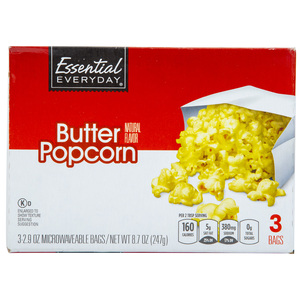 Essential Everyday Popcorn Butter Natural 247g