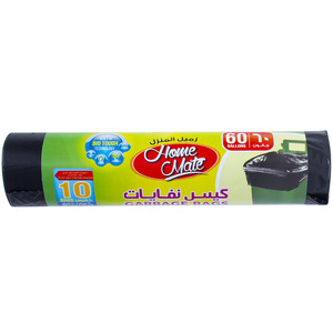 Home Mate Garbage Bags 60Gallons 90cm x 110cm 10pcs