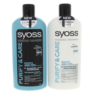 Syoss Purifty & care Shampoo 500ml + Conditioner 500ml