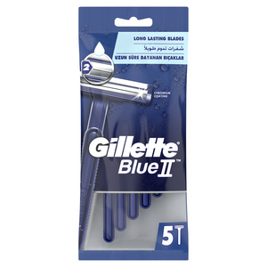 Gillette Blue II Disposable Razor 5pcs