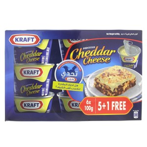 Kraft Processed Cheddar Cheese 6 x 100g