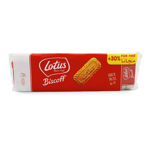 Lotus Biscoff Caramelised Biscuits 186g + 30% Extra