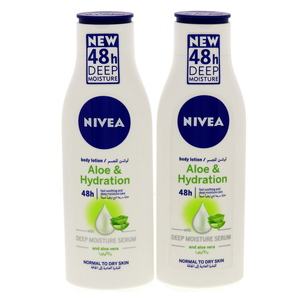 Nivea Aloe & Hydration 48h Moisture Body Lotion 2 x 250ml