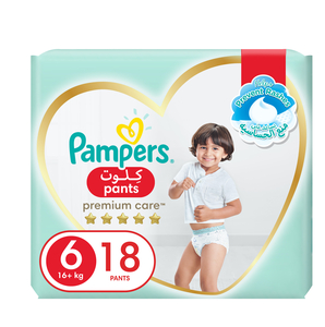 Pampers Premium Care Pants Diapers Our Softest Diaper With Stretchy Sides for Better Fit Size 6 16+kg 18pcs