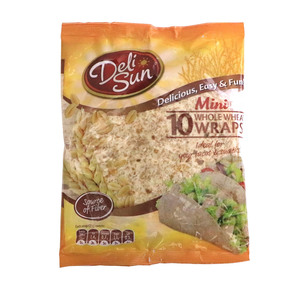 Deli Sun Mini Whole Wheat Wraps 10pcs 250g
