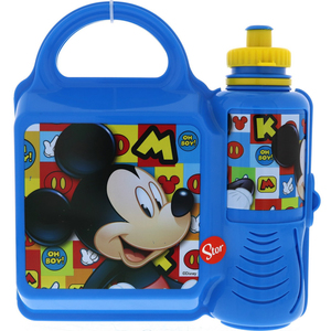 Mickey Mouse Water Bottle + Lunch Box 19072 400ml