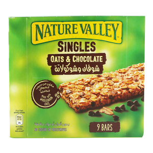 Natural Valley Crunchy Cereal Bars Oats & Chocolate 9 x 21g
