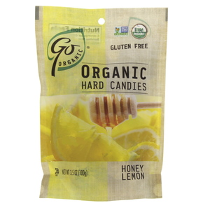 Go Organic Hard Candies with Honey and Lemon 100g