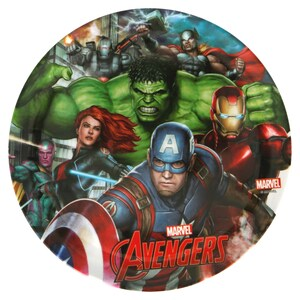 Avengers Themed Melamine Plate without Rim 87758
