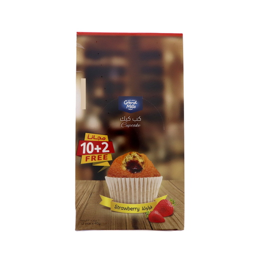 Grand Mills Cup Cake Strawberry 12 x 40g
