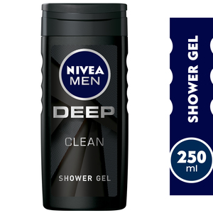 Nivea Men Deep Clean Shower Gel Microfine Clay 250ml
