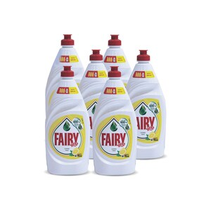 Fairy Lemon Hand Dishwashing Liquid 750ml 4 + 2
