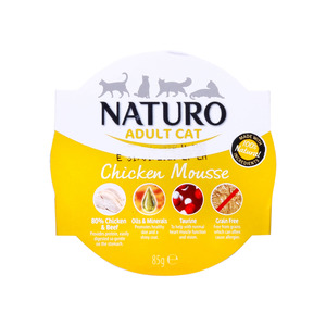 Naturo Chicken Mousse For Adult Cat 85g