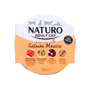 Naturo Salmon Mousse For Adult Cat 85g