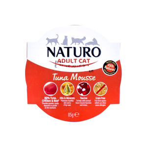 Naturo Tuna Mousse For Adult Cat 85g