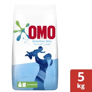 OMO Front Load Laundry Detergent Powder Sensitive Skin 5kg
