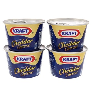 Kraft Processed Cheddar Cheese 4 x 190g