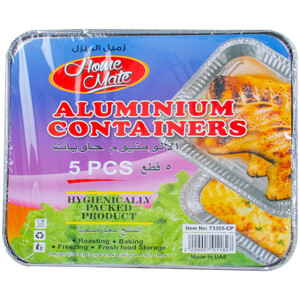 Home Mate Aluminium Containers 5pcs