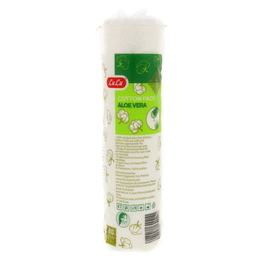 Lulu Aloevera Cotton Pads 80Pcs