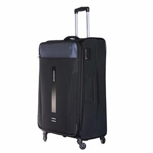 American Tourister Madison 4 Wheel Soft Trolley 56cm Black