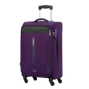 American Tourister Madison 4 Wheel Soft Trolley 68cm Purple