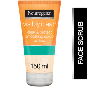 Neutrogena Facial Scrub Visibly Clear Clear & Protect Oil-free 150ml