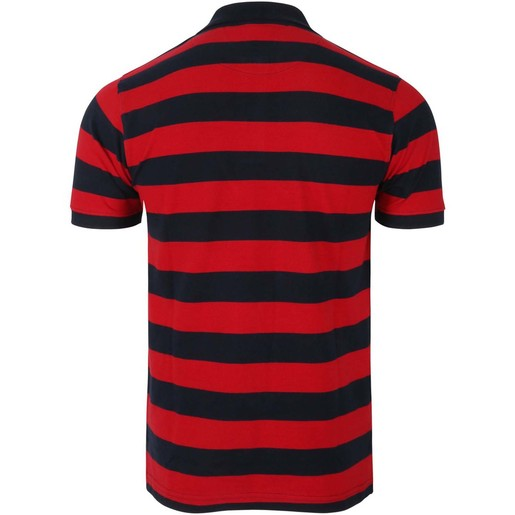 De Backers Men's Polo Navy-Red YD06 Medium
